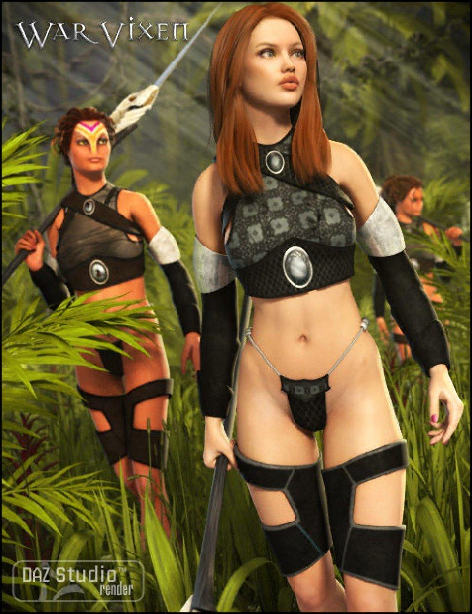 War Vixen & Textures_DAZ3D下载站