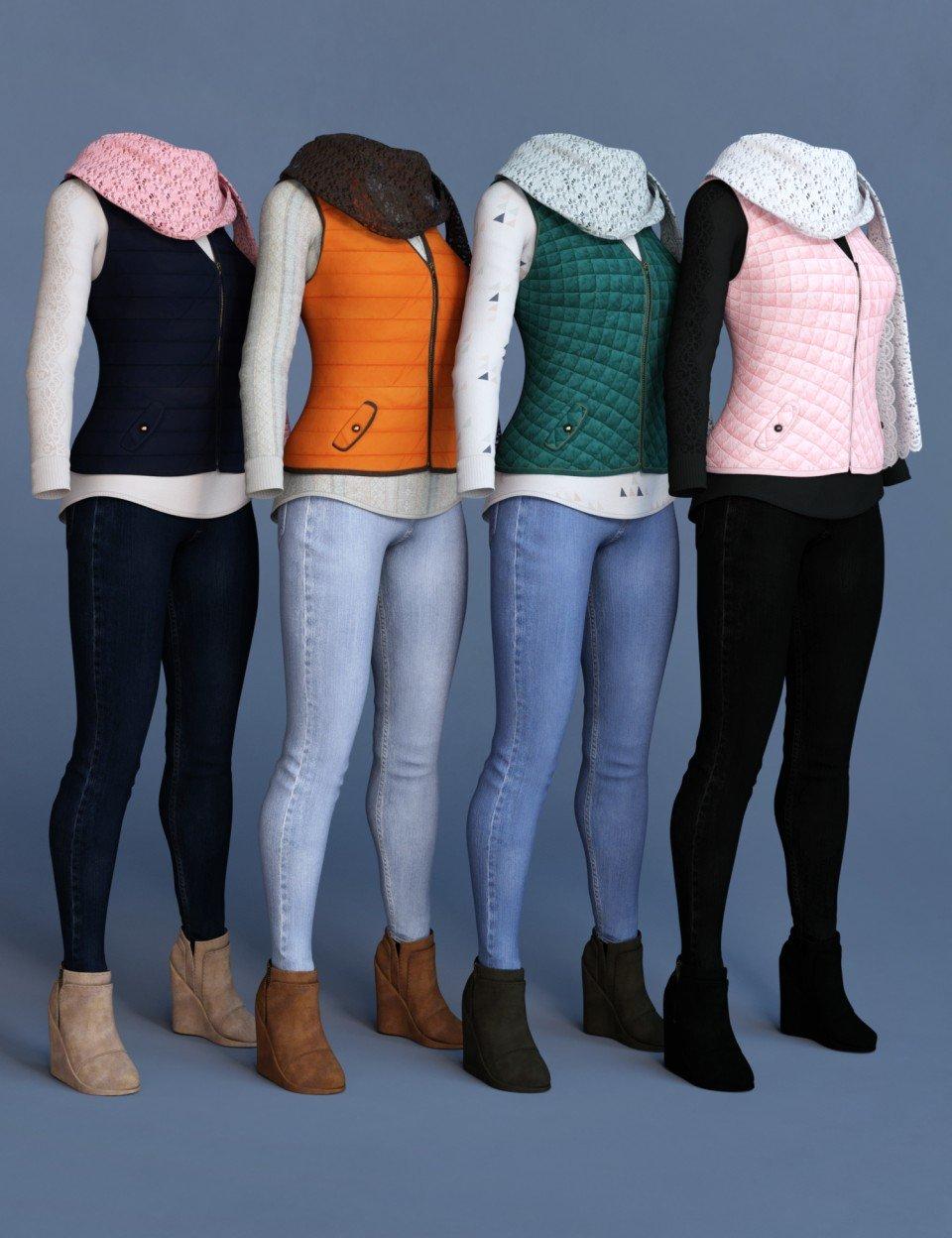 dForce Latte Mornings Outfit Textures_DAZ3D下载站