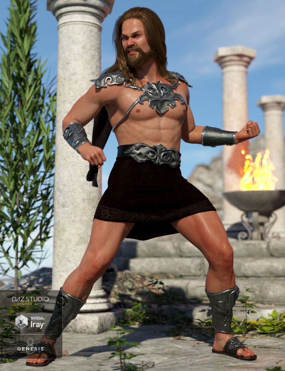 dForce Skyhaven Outfit for Genesis 8 Male(s)_DAZ3D下载站
