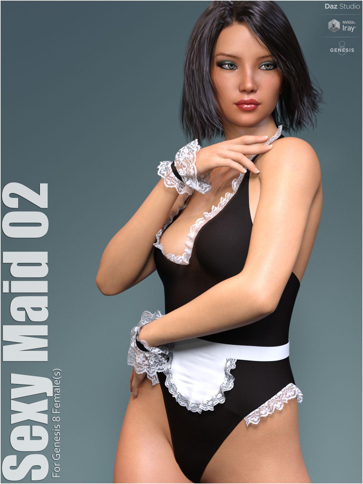 dForce Sexy Maid 02_DAZ3D下载站