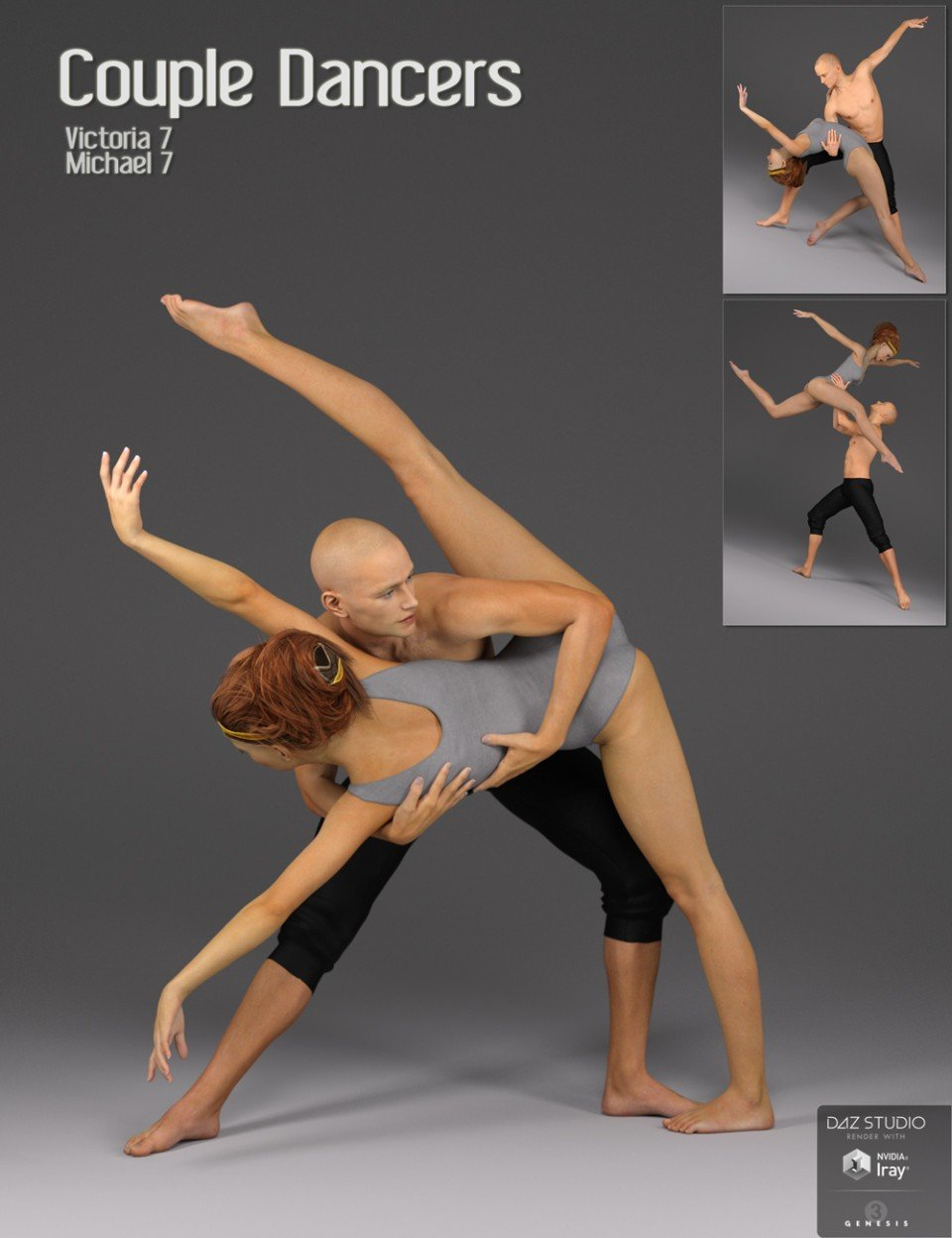Couple Dancers Poses for Victoria 7 and Michael 7_DAZ3D下载站