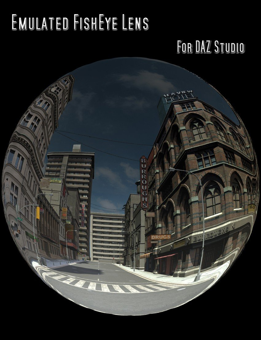 Emulated FishEye Lens for DAZ Studio_DAZ3D下载站