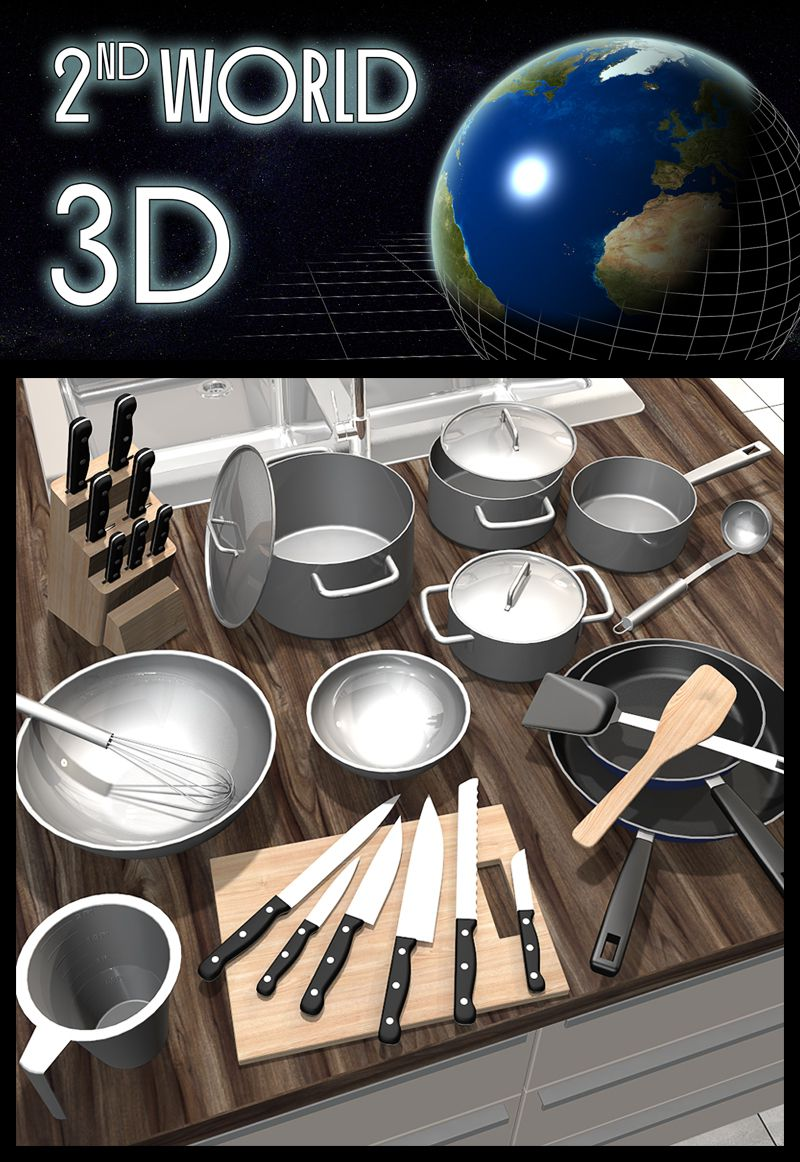 Everyday items, Kitchenware_DAZ3D下载站