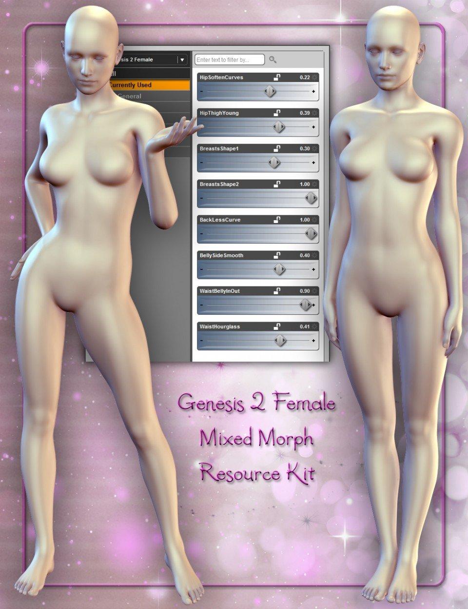 Genesis 2 Female Mixed Morph Resource Kit_DAZ3D下载站