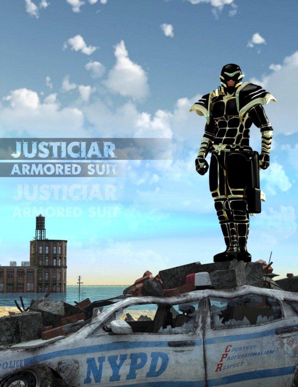 Justiciar Armored Suit_DAZ3D下载站