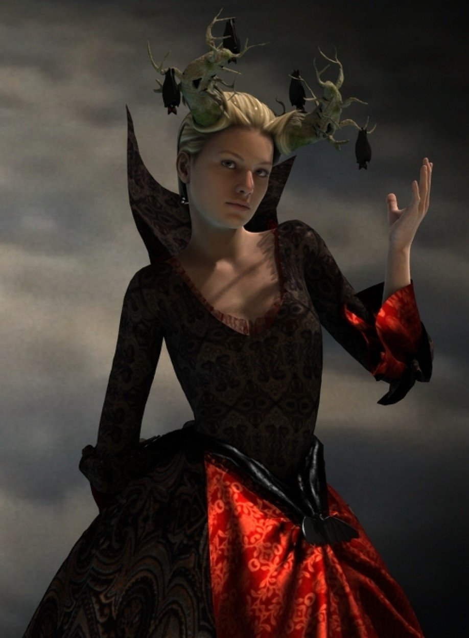 Lady De Lioncourt Dress for Genesis 2 Female(s)_DAZ3D下载站