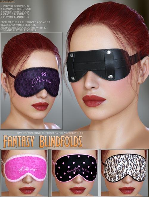 LilFlame's Fantasy Blindfolds_DAZ3D下载站