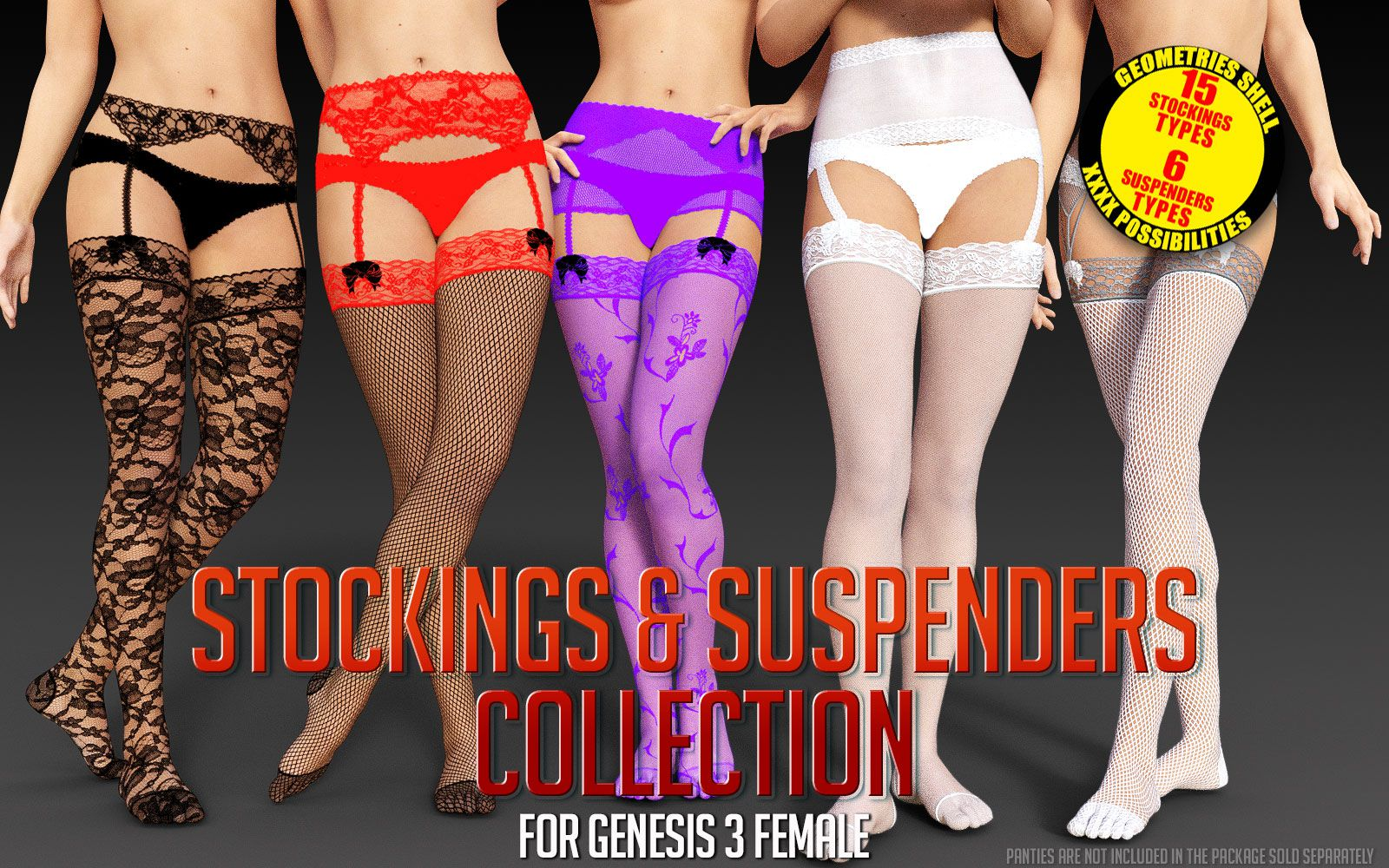Stockings & Suspenders Collection for G3 Females_DAZ3D下载站