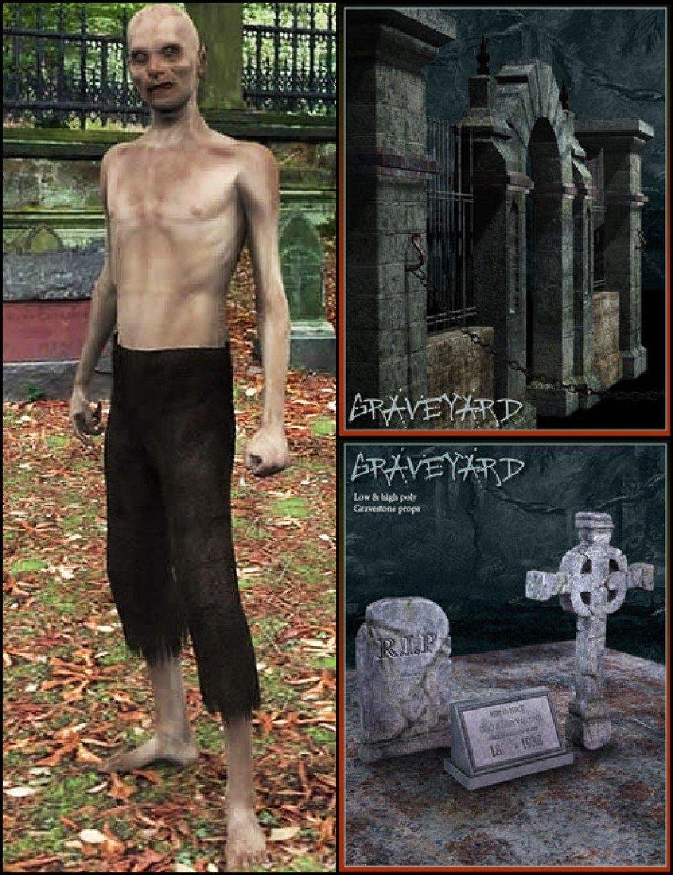 Zombie Graveyard Bundle_DAZ3D下载站