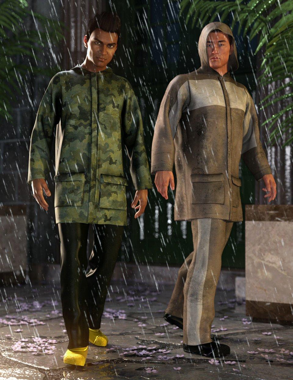 dForce Wet Weather Gear: Steward_DAZ3D下载站