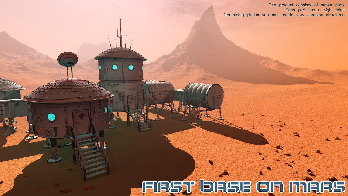 First base on Mars_DAZ3D下载站