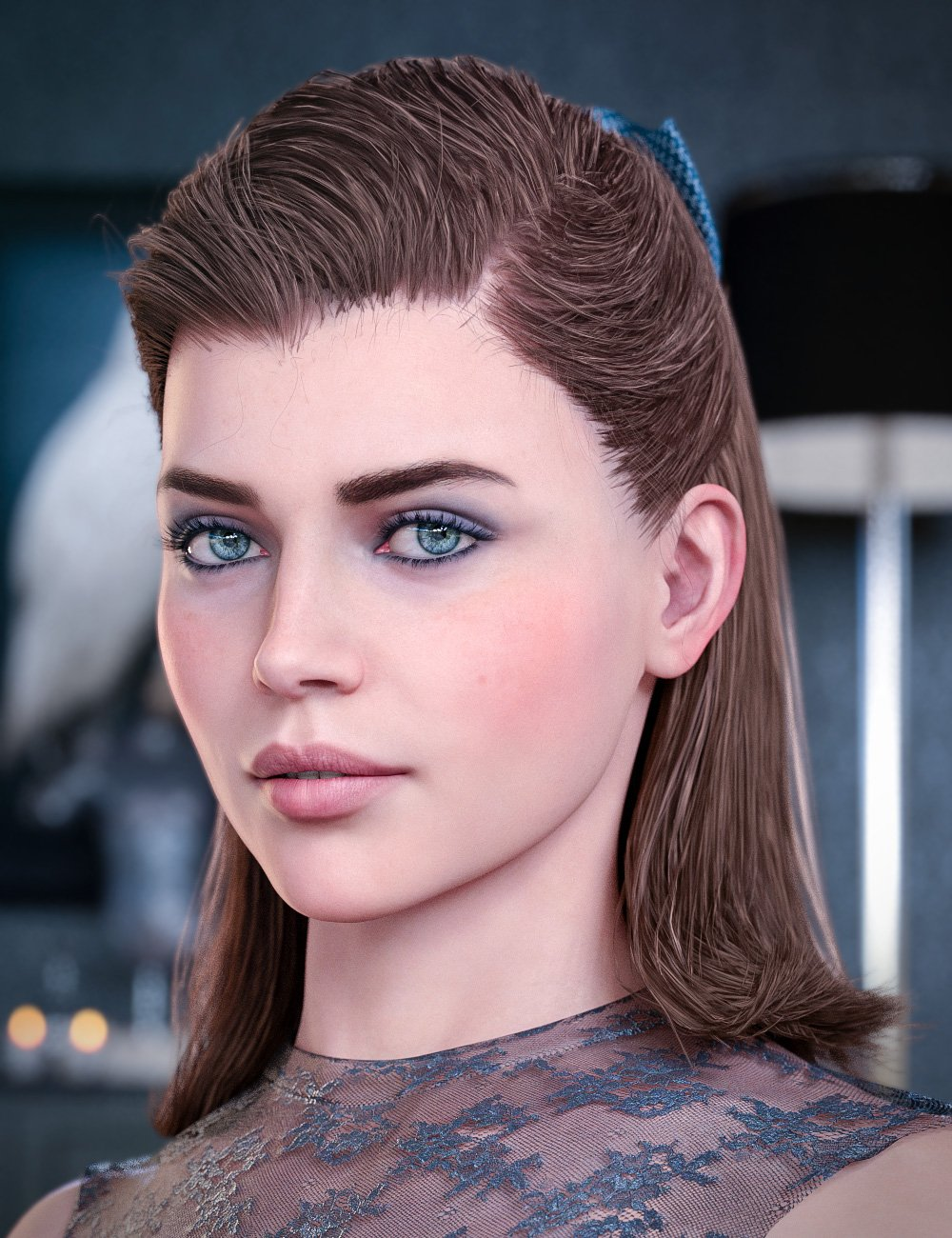 Kelya Good Girl Hair for Genesis 8 Females_DAZ3D下载站