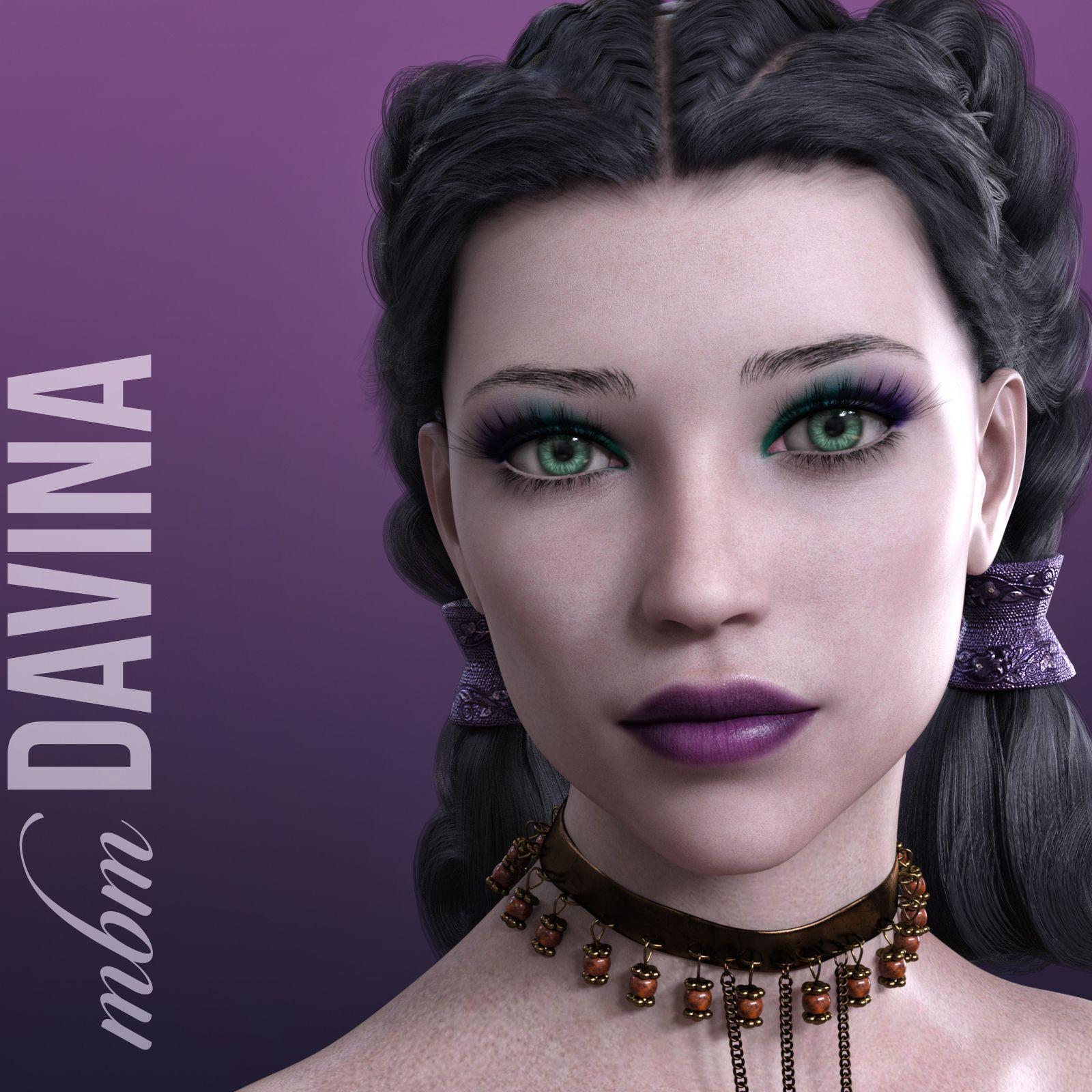 MbM Davina for Genesis 3 & 8 Female_DAZ3D下载站
