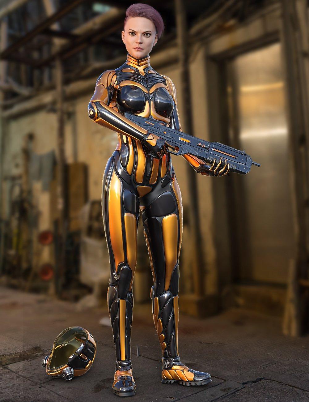 S8 Suit for Genesis 8 Female(s)_DAZ3D下载站