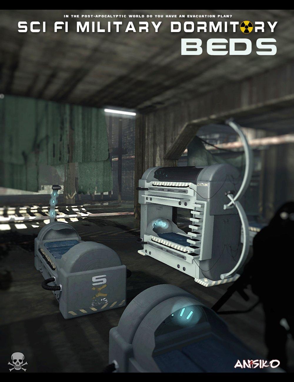 SCI FI Beds_DAZ3D下载站