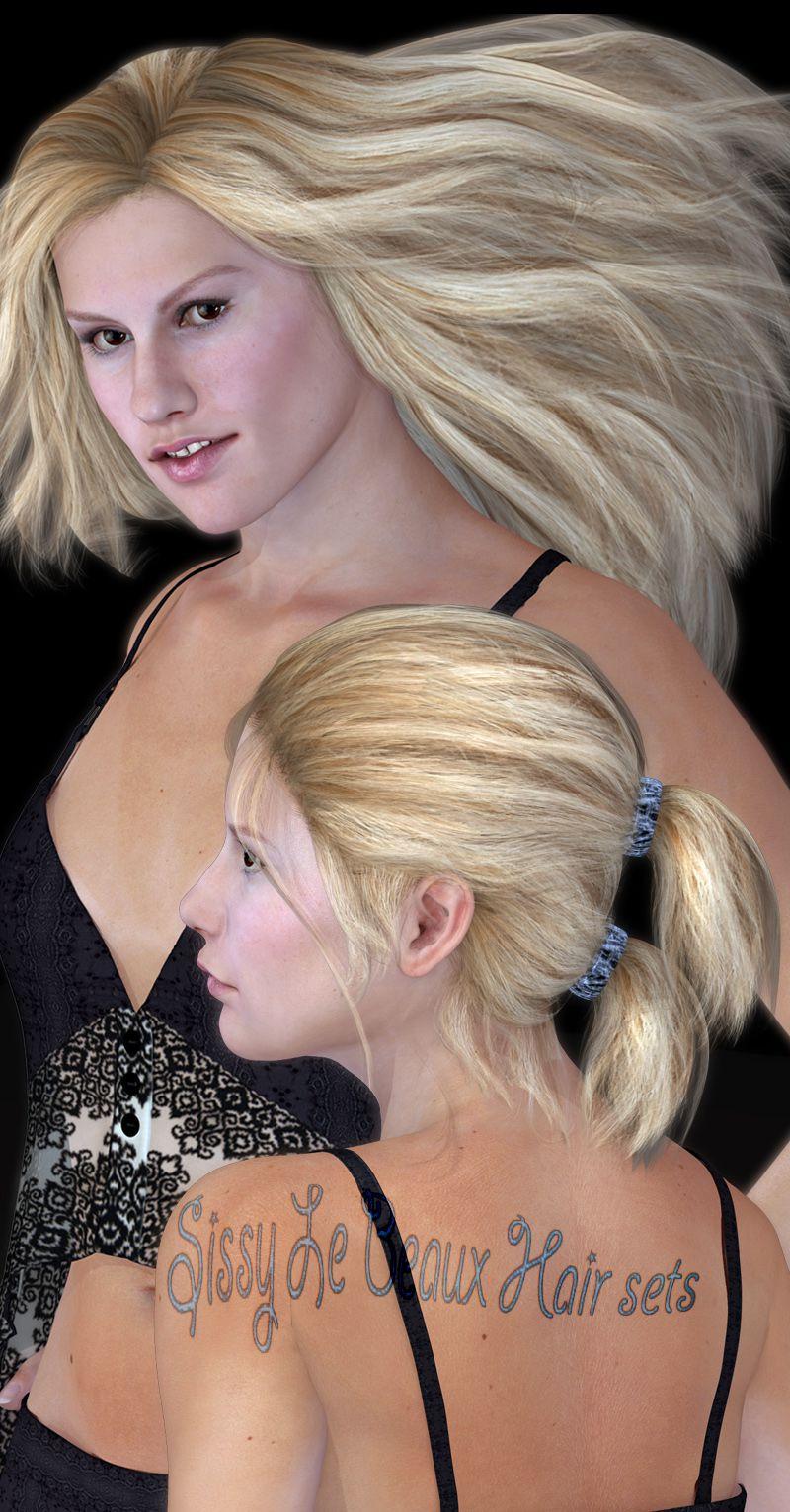 Sissy Le Beaux Hair Sets_DAZ3D下载站