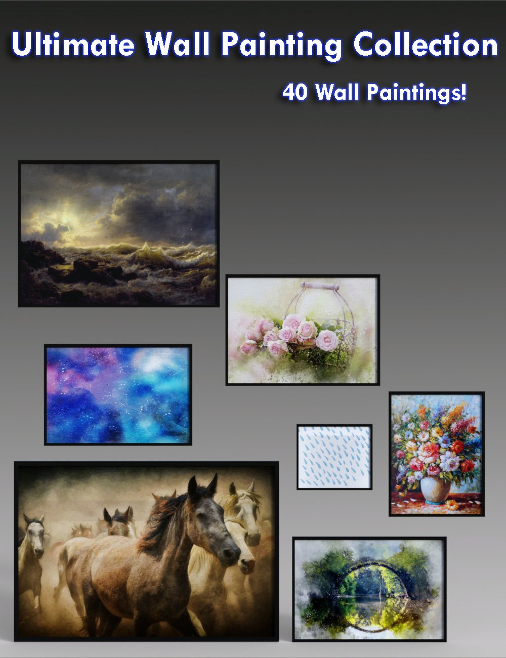 Ultimate Wall Painting Collection_DAZ3D下载站