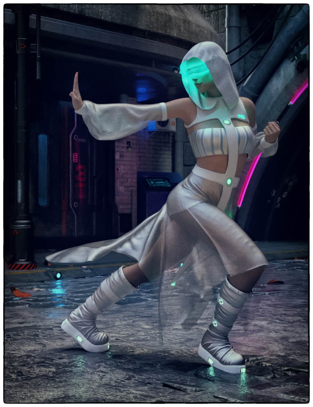 dForce CB Haze Alpha Clothing Set for Genesis 8 Females_DAZ3D下载站