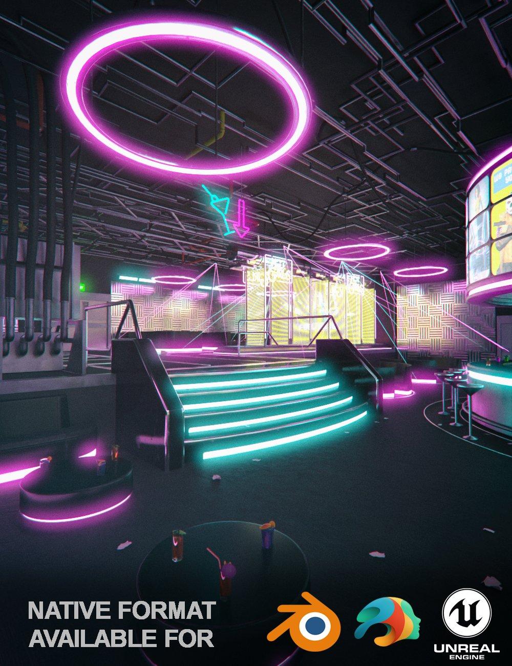 Cyberpunk Night Club_DAZ3D下载站