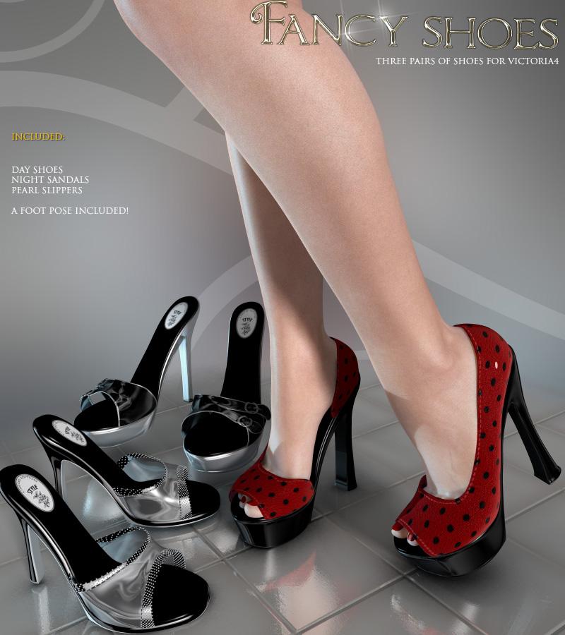 Fancy Shoes V4_DAZ3D下载站