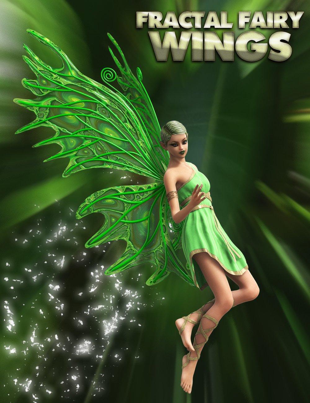Fractal Fairy Wings_DAZ3D下载站