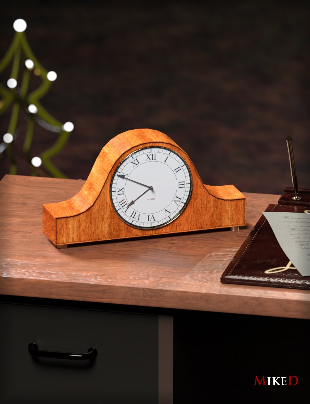 MD Table Clock_DAZ3D下载站