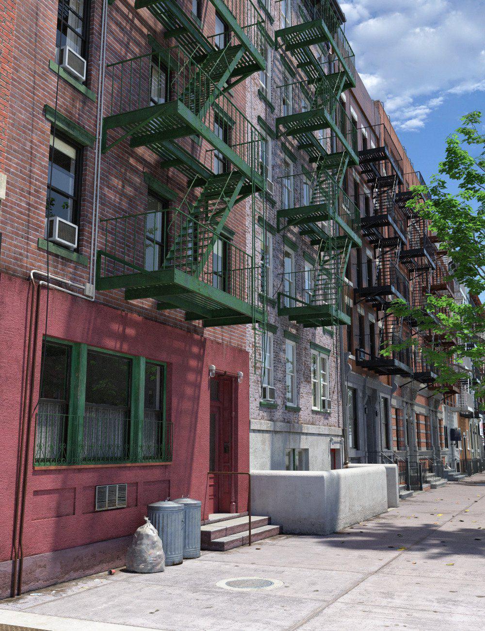 New York Tenements_DAZ3D下载站