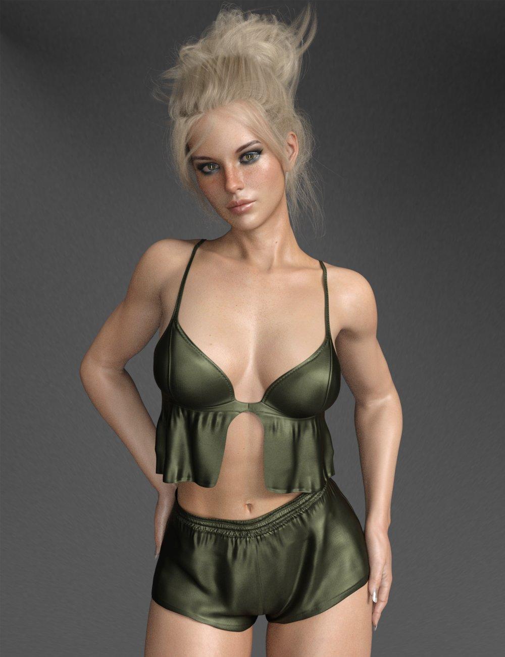 dForce X-Fashion Sweet Intimate Set for Genesis 8 Female(s)_DAZ3D下载站