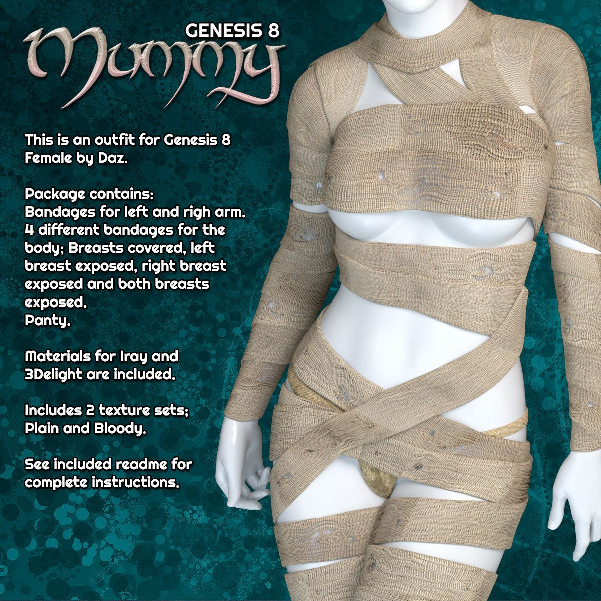 Exnem Mummy for Genesis 8 Female_DAZ3D下载站