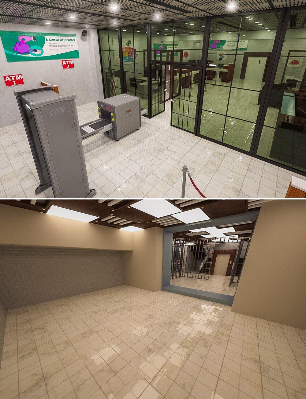 Bank Heist Environment_DAZ3D下载站