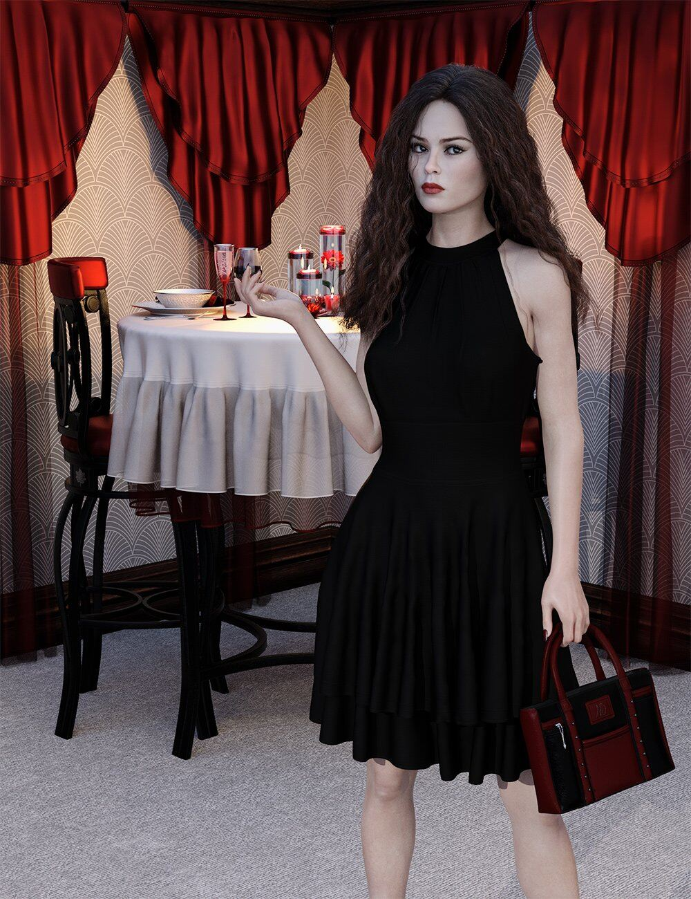 Night Out Purse and Accessories for Genesis 8 Female_DAZ3D下载站