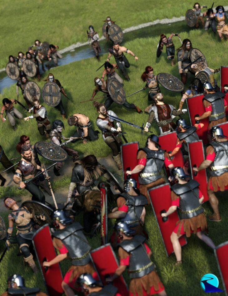 Now-Crowd Billboards – Barbarian Warriors Injured (Barbarian Warriors Vol IV)_DAZ3D下载站
