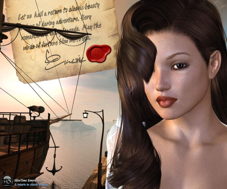 SkinTime Emerie HD V4_DAZ3D下载站